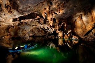 Inside Puerto Princesa Underground River Boat